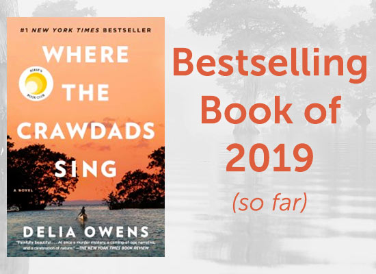 Where the Crawdads Sing, Bestselling Book of 2019 (so far)