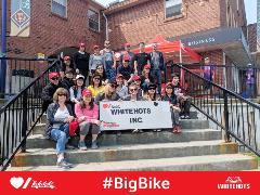 Whitehots Big Bike Team with Donation Cheque (2019)